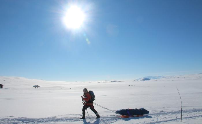Ingrids etappe fra Finse til Breistølen i Hemsedal 7-11mars